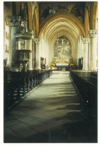 Die Pfarrkirche Sankt Johann vor ihrer Umgestalung