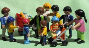 Familien aus Playmobilfiguren