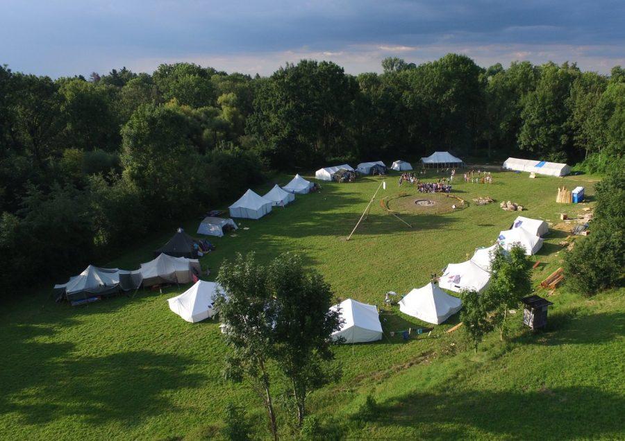 Zeltlager von oben